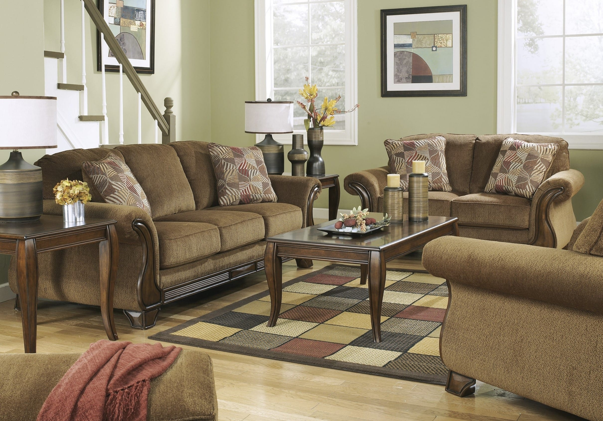 Signature Design Ashley 3830038 3830035 3830020 in 12 Awesome Concepts of How to Improve Living Room Set 3 Piece