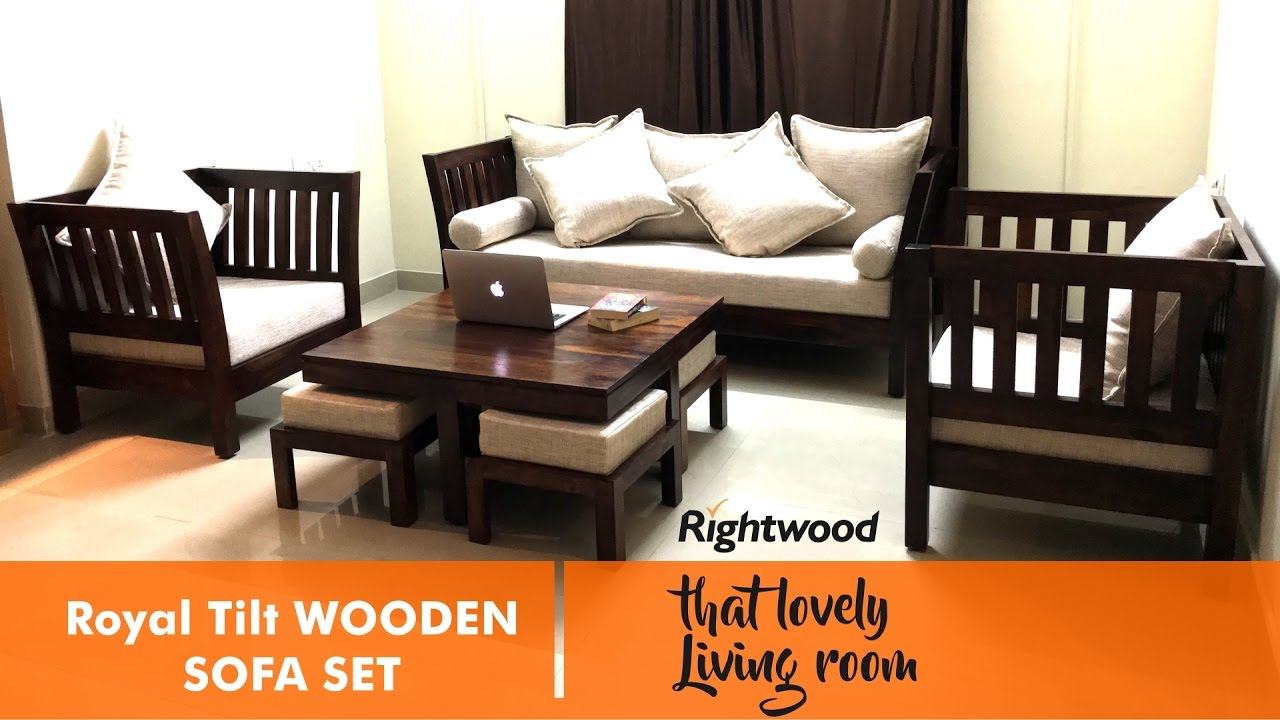 Sofa Set Design Royal Tilt Wooden Sofa Rightwood Furniture Decorating The Living Room within 14 Smart Ideas How to Improve Wood Living Room Set