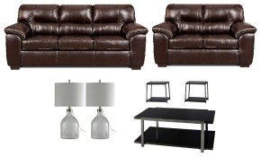 Ivan Smith Austin Chocolate Living Room Set inside 13 Awesome Initiatives of How to Make Affordable Living Room Set