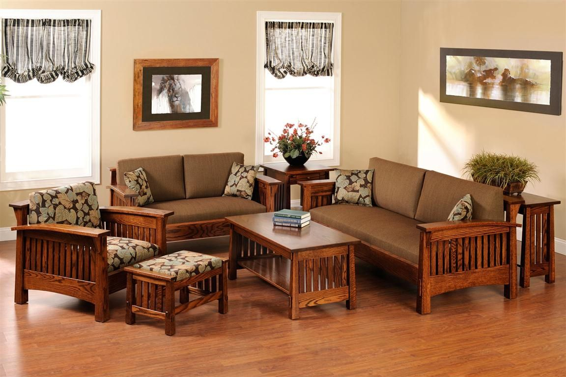 Wooden Sofa Set For Living Room Home Interior Wooden throughout Wooden Living Room Sets