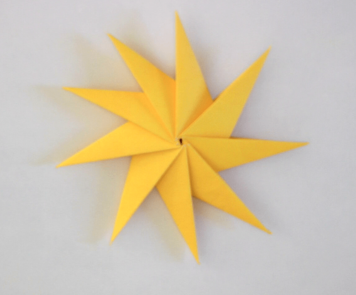 Origami Christmas Tree Diagram