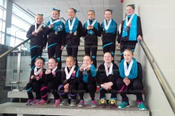Team Unity Beginner and Pre-Novice teams are from the left, front row: Lindsay Vanderhyden, Avery Brenneman, Maddy Adam, Annabelle Henry, Callie Brenneman, Reegan Zeigler; back row: Kaylee Adam, Shelby Vanderhyden, Allyson Kau, Allysa Podan, Tori Jantzi, and Ava Panchen-Porchak. (Contributed photo)