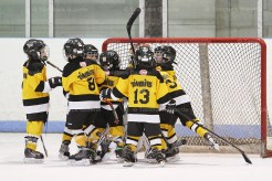 The Tavistock Tykes celebrate following their championship win in the 2016 K=Jimmy Roth Tournament.