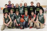 Members of the Tavistock Public School Sr. Boys Basketball team include, from the left, in front: Luke Hyde, Carter Roth, Mason McKay, Isac Blum, Shawn Farrell, Blair Sparling; back row: Zhao-Yu Tan, Coach Chris Ross, Clayton Gerber, Kyle Roth, Ryan terMaat, Brady Roth, Chad Brown, and Ryan Ziegler. Missing from the photo is team member Carter McKay.