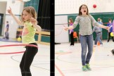 Students participate in the Jump Rope for Heart at Tavistock Public School on Thursday afternoon. Several different activities were involved in the gymnasium to keep the children active.
