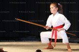 Johanna Dyck Steinmann with a karate demonstration.