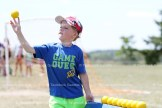 Grade 2 student Gavin Witt throws a ball during one of the games.