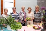 Tavistock & Area Horticultural Society Flower Show winners include, from the right, judge Anne Innes with Dianne Kropf, 1st; Marlene Schwartzentruber and Dianne Chambers, tied for 2nd; and Marilyn Brenneman, 3rd.