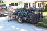 Bart Danen stands with a load of 19 bicycles that he sent overseas through the organization Canadian Food for Children.