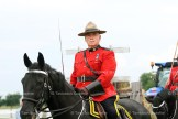 RCMP Officer in Charge of the Musical Ride Section is Inspector Patrick Egan riding Sam.