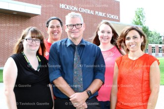 Hickson Central Public School's new principal Paul Bosacki with new teachers, from the left, Jaime Hutchinson (French), Jenny Christie (Grade 2/3), Jenna Schikschneit (FDK), and Kristen Carne (Grade 1).