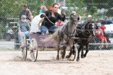 Ashley Montour in the mini chuck wagon races.