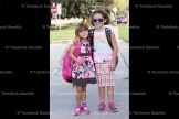Off to Tavistock Public School on Tuesday morning were sisters Lexi Schultz, 5, to Senior Kindergarten; and Derika Scheerer, 8, who is attending Grade 3.