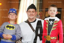 Daryll McCadden poses with his sons, Ewen, 5 (left) and Michael, 7, during the Tavistock Legion Hallowe'en Party on Saturday afternoon, October 15th.