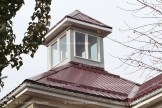 A view of the Hulcoop's new cupola from the street.