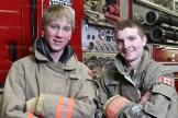 Hickson auxiliary firefighters Calvin Klingenberg (left) and Luke Ward.