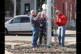 Tavistock Men's Club members installing the Christmas tree lights in the centre of the village are, from the left, Steve Cahill, Martin Blikman and Ron Wiffen. Not shown is Ron Ferguson.