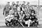 "Members of the Tavistock Orioles, winners of Saturday's Sno-Pitch Tournament, are front row, left to right, Brian Stere, Brad Stere, Brad Winhold, Darren Stewart, Dave Frey; centre row, Shelley Kaufman, Donna Winhold, Donna Rosenberg, Wendy Moser, Brad Zehr; and back row, Steve Kaufman, Pete Rosenberg, Bruce Pletsch, Randy Fryfogel, and Keith Zehr. Although it was labelled a ""Sno-Pitch"" tournament (3-pitch baseball rules played on a snow covered field), this year's event was far from the perfect snowy weather of last season. Mild conditions changed the field from an early morning ice pad-to a soggy, sloppy, muddy and downright messy diamond. Eight teams played off in the double-knockout style tournament."