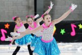 Front to back, in the Elementary Synchro performance: Reegan Ziegler, Ava Porchak, and Allison Kau.