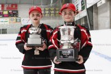 South Huron players proudly hold the Novice West CC Championship trophies following a 3-2 overtime win in Tavistock on March 22nd.