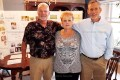 At the Bundscho reunion in Florida recently, at left, John Bundscho of Miramar Beach, Florida, Joyce Fischer of Tavistock and Jim Bundscho of Woodlands, Texas.