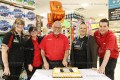 Customer Appreciation Day at valu-mart was Sunday, May 6th. Store manager Mike Staffen cuts the cake with employees, Desiree Bartolf, Meaghan Schwartzentruber, Sheri Britton and Chris Edwards.