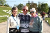Walking for World Gym at the Relay for Life in Stratford were Betty Schaefer (left) and Ray and Marilyn Dietrich.