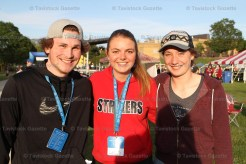 Huskies for Hope team members included, from the left, Cody Ramseyer, Leah Matthews and Anna Mohr.
