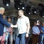 Last year's champion Sergey Erokhin. Geçen senenin şampiyonu.