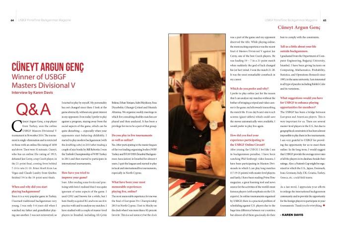 Cüneyt Argun Genç USBGF Röportajı