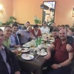 Fun international dinner after the tournament.  Turnuva sonrası eğlenceli uluslararası yemekte iyice kaynaştık.