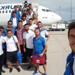Uğur İlhami Özden Bodrumspor Yönetim Kurulu'nda futbolcularıyla bir deplasmana uçarken