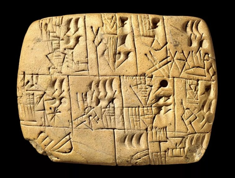 Tulisan Cuneiform Tenang Pembayara Pekerja Menggunakan Bir (3100-3000 BC)