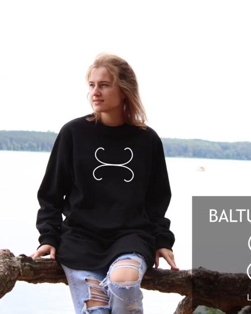 Ilgas džemperis su Baltų simbolika