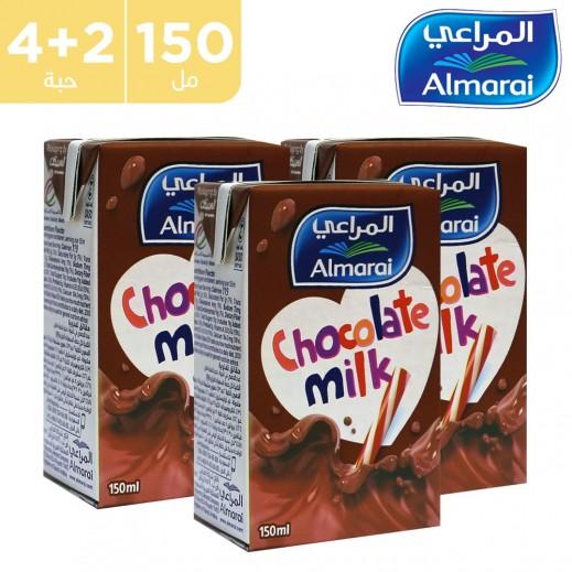 اشتري Aالمراعي حليب نجوم بنكهة الشوكولاته 150 مل 4 2 مجانا توصيل Taw9eel Com