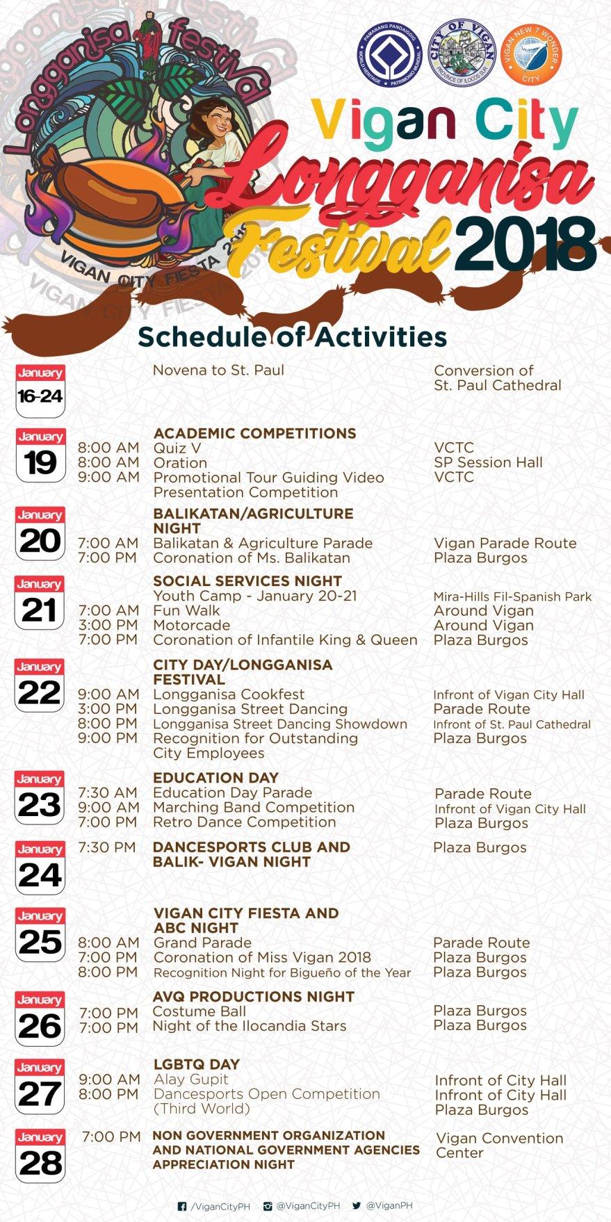 Vigan City kicks off fiesta calendar with Longganisa Festival 2018
