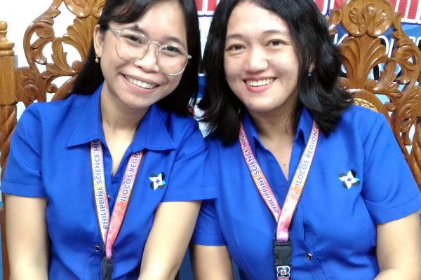 PSHS-IRC CAMPUS DIRECTOR RONALEE ORTEZA (right) and Vanessa Soloria of the Guidance Services Unit (Photo/E. Antonio)