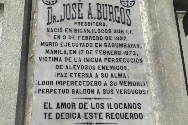 Fr. Jose Burgos monument