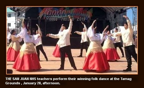 2019 Kannawidan Festival - SJNHS teachers bag folkdance crown (photo by Edward B. Antonio)