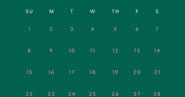 Freebie: March Mobile Calendar