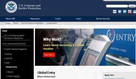 Global Entry Website - Kiosk