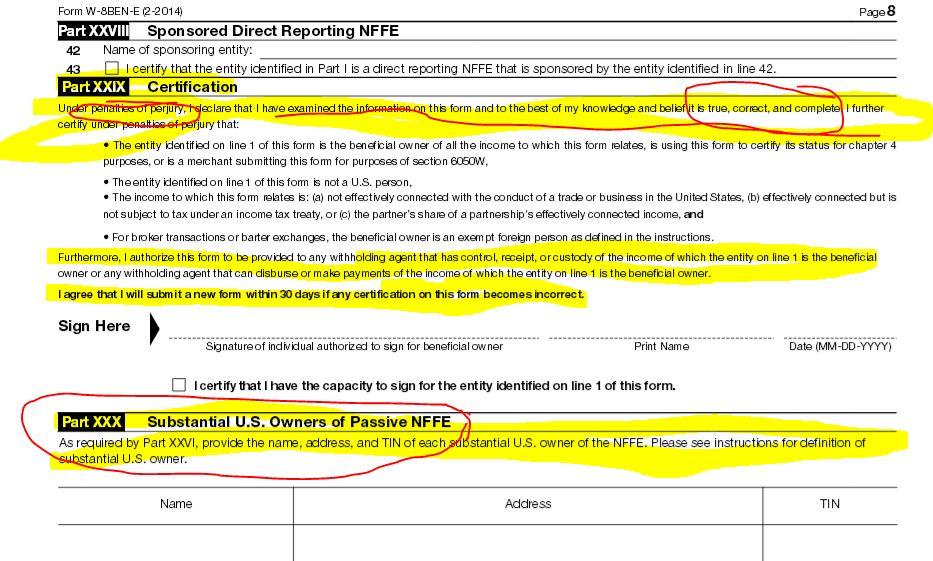 FATCA Driven – New IRS Forms W-8BEN versus W-8BEN-E versus W