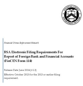 Front Page - of FBAR Electronic Instructions