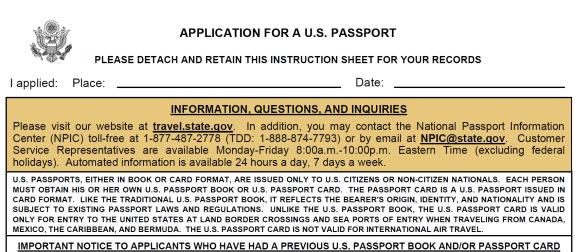 application for US passport p1