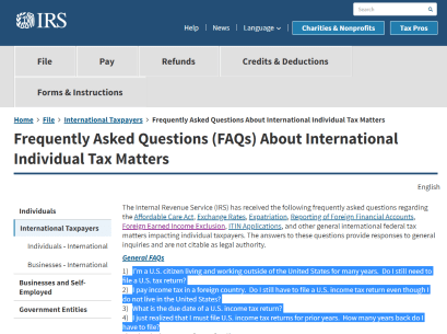 Additional Time for Tax Return Filing – Extension until