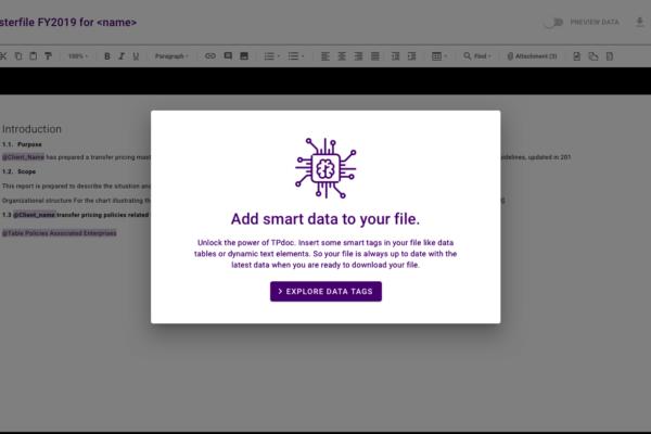 Add smart data