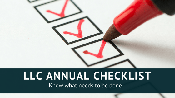 Do you own an LLC? Here's your annual checklist