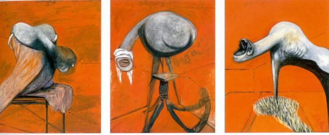 Francis Bacon, Three studies for figures at the base of a crucifixion