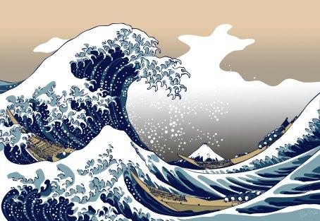 Katsushika Hokusai, The wave