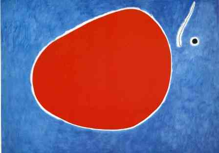 Joan Miro, The flight of the dragonfly in front of the sun